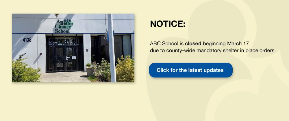 ABC School Closed notice